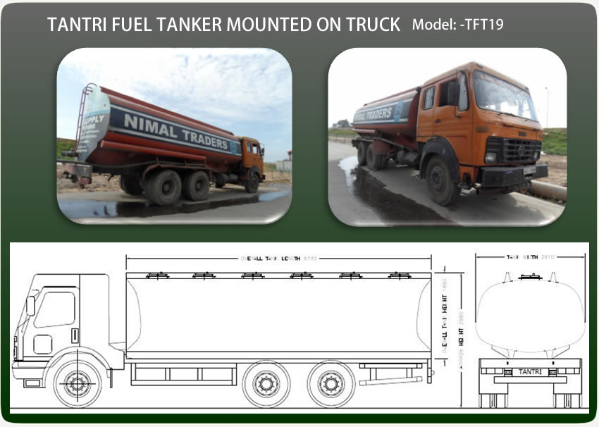 Tantri Fuel Tanker Mounted On Truck Tft