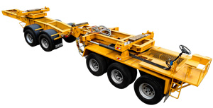STEERABLE BEAM TRANSPORT TRAILER