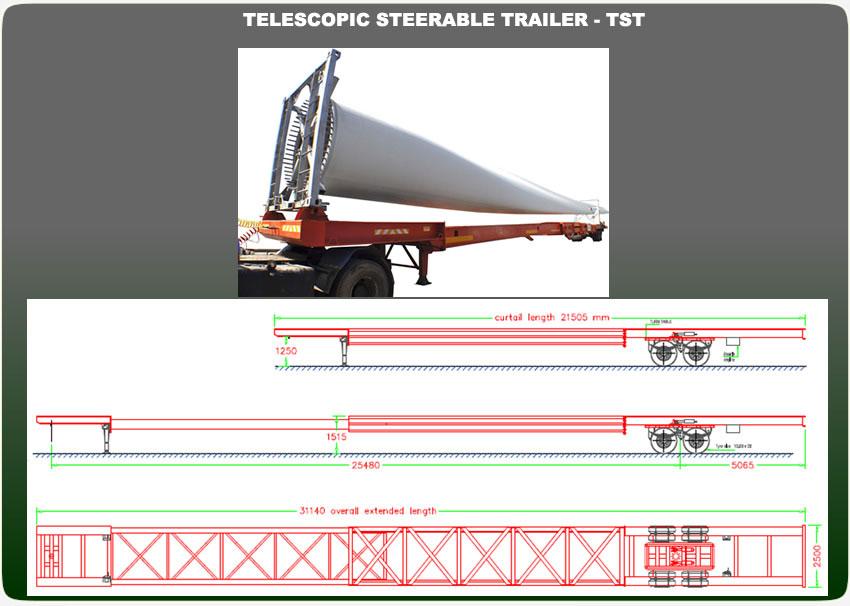 TELESCOPIC STEERABLE TRAILER -Sri Lanka